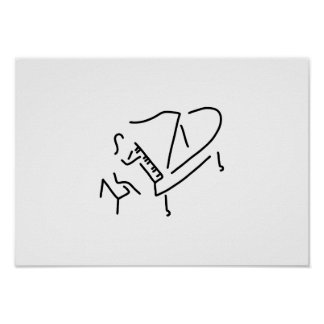 pianist piano player wing poster
