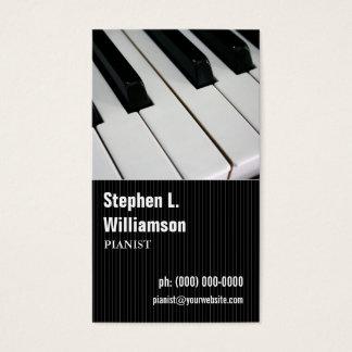 Pianist Pinstripe Business Card