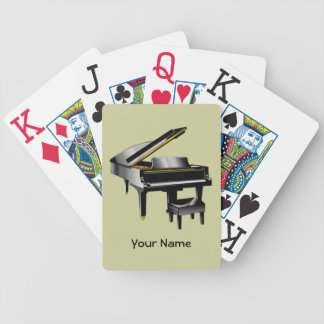 Pianist Playing Cards