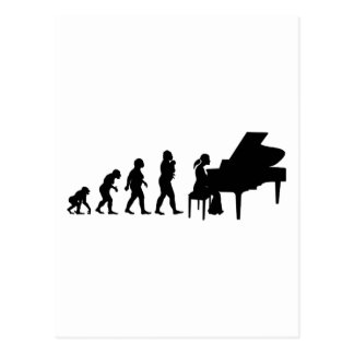 Pianist Postcard