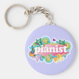 Pianist Retro Piano Gift Keychain