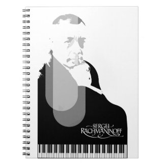 pianist spiral notebook