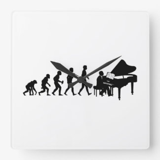 Pianist Square Wall Clock
