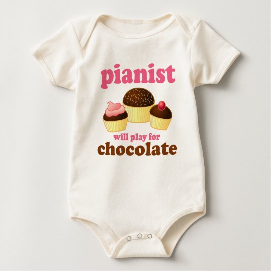 Pianist Will Play for Chocolate Baby Bodysuit