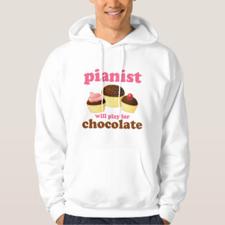 Pianist Will Play for Chocolate Hoodie