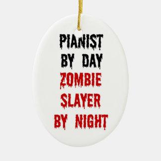 Pianist Zombie Slayer Ceramic Ornament