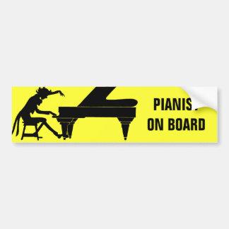 ¡Pianista a bordo! Pegatina De Parachoque