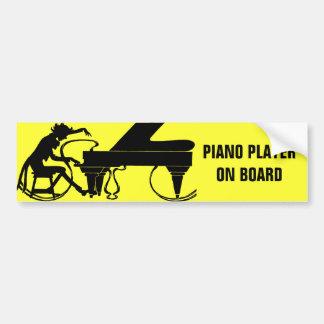 ¡Pianista a bordo! Pegatina Para Auto
