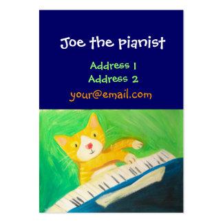 pianista, amante de la música tarjetas de visita grandes