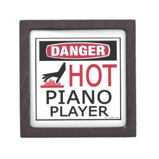 Pianista caliente caja de recuerdo de calidad