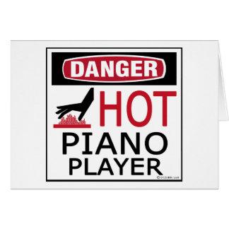 Pianista caliente tarjeton