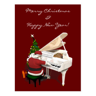 Pianista de Papá Noel Postal