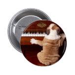 Pianista del perrito pins