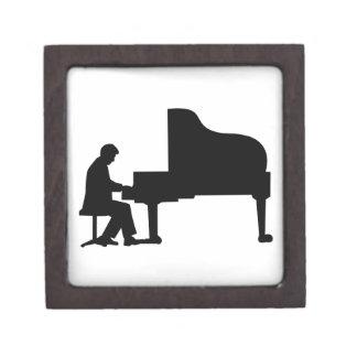 Pianista del piano de cola caja de joyas de calidad