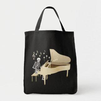 Pianista esquelético bolsa tela para la compra