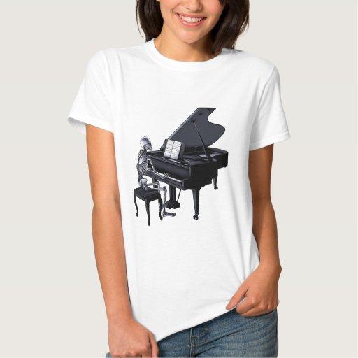 Pianista esquelético playera
