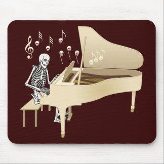 Pianista esquelético tapete de ratones