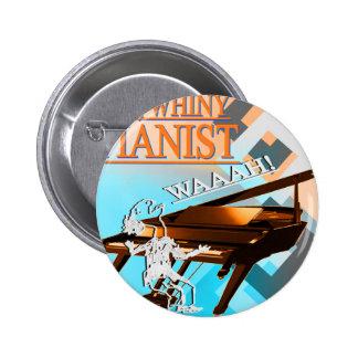 Pianista grande del Whiny ciánico y anaranjado Pin