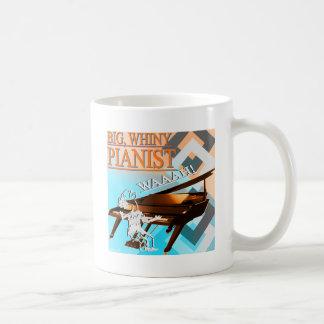 Pianista grande del Whiny ciánico y anaranjado Taza Clásica