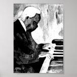Pianista Jazz O Indian Ink Artwork Impresiones