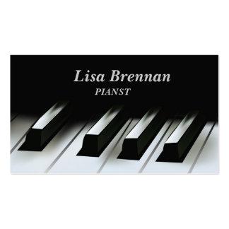 Pianista músico tarjeta de visita del jugador de