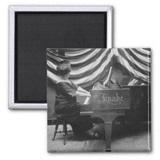 Pianista patriótico, los años 20 imanes para frigoríficos
