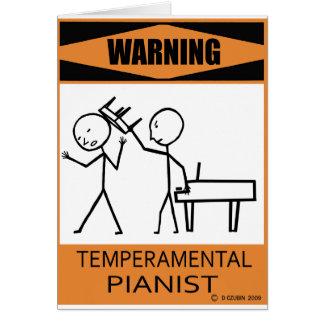 Pianista temperamental amonestador felicitaciones
