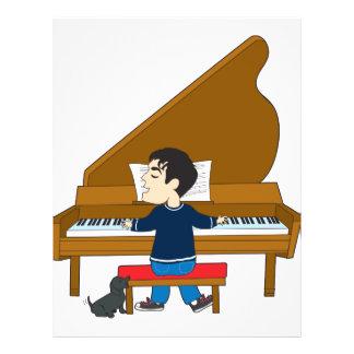 """Pianista y perro folleto 8.5"""" x 11"""""""