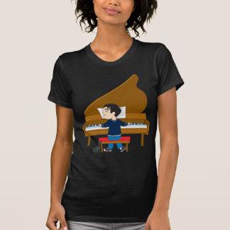 Pianista y perro playera