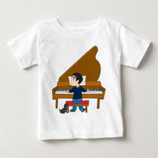 Pianista y perro playera de bebé