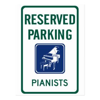 Pianists Parking Postcard