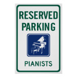 Pianists Parking Posters