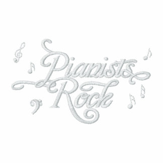 Pianists Rock Musician's Embroidered Shirt