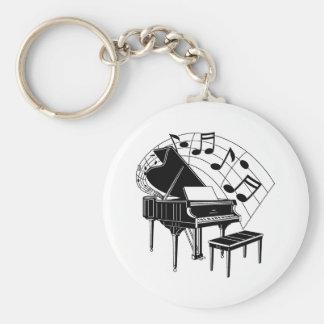 Piano2 Basic Round Button Keychain