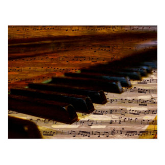 piano-317026 PIANO NOTES SHEET MUSIC SONGWRITER SO Postcard