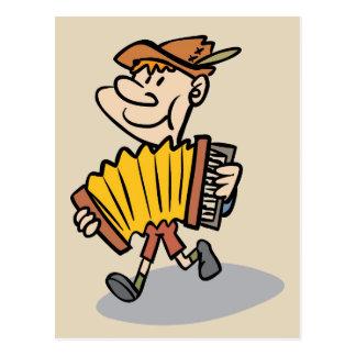 Piano Accordion Player postcard