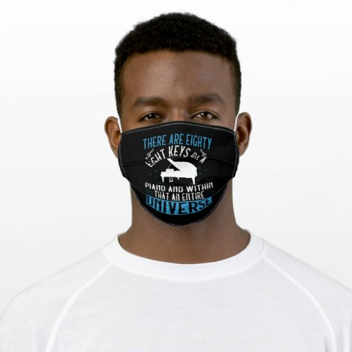 Piano _ adult cloth face mask