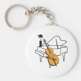 PIANO AND CELLO KEYCHAINS