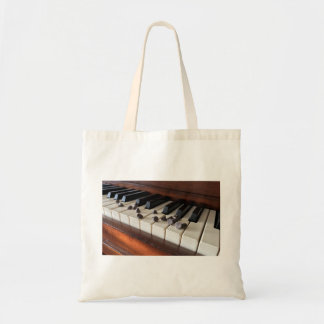 Piano and chocolate chips tote bag.