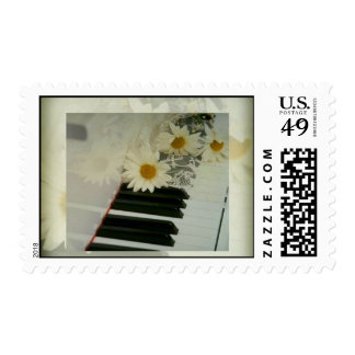 Piano and Daisies Postage