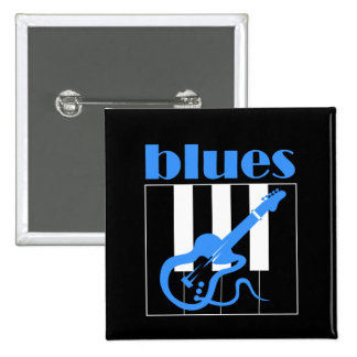 Piano and guitar blues pinback button