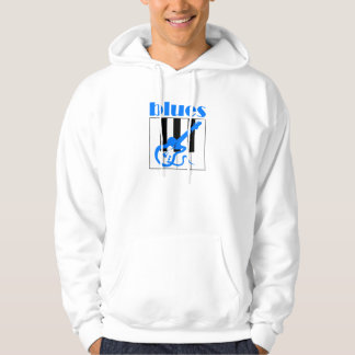 Piano and guitar blues hoodie