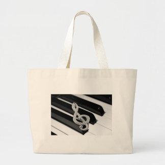 Piano and music Gclef Jumbo Tote Bag