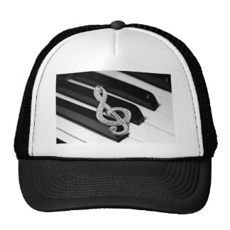 Piano and music Gclef Trucker Hat
