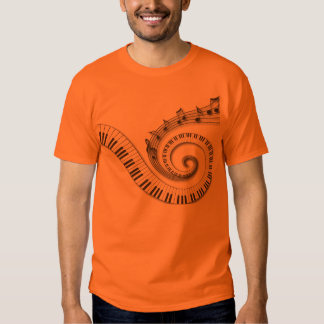 Piano and Musical Notes T-shirts