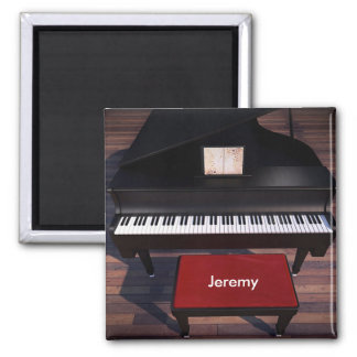 Piano and Red Piano Stool template Magnet