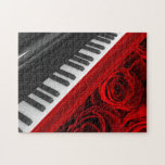 Piano and Roses Puzzle