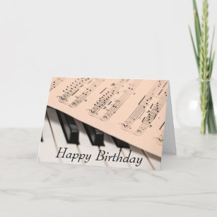Piano And Score Birthday Card For Musician