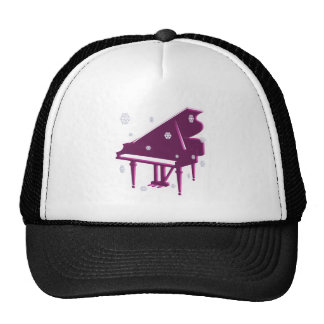 Piano and Snowflakes Trucker Hat