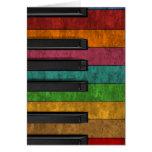 Piano antiguo colorido fresco del efecto del grung felicitación